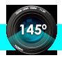145 graden dashcam view